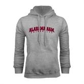Grey Fleece Hoodie-Alabama A&M University Arched