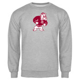 Grey Fleece Crew-Bulldog