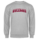 Grey Fleece Crew-Alabama A&M Bulldogs Arched