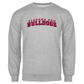 Grey Fleece Crew-Alabama A&M Bulldogs Arched
