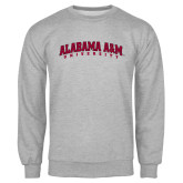 Grey Fleece Crew-Alabama A&M University Arched