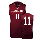 Replica Maroon Adult Basketball Jersey-#11
