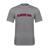 Performance Grey Concrete Tee-Alabama A&M University Arched