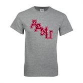 Grey T Shirt-AAMU Stacked