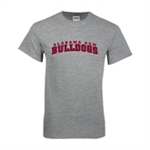 Grey T Shirt-Alabama A&M Bulldogs Arched