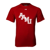 Under Armour Cardinal Tech Tee-AAMU Stacked