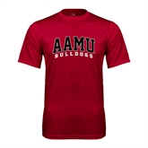 Performance Cardinal Tee-AAMU Bulldogs Arched