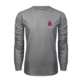 Grey Long Sleeve TShirt-Official Logo