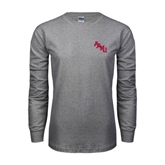 Grey Long Sleeve TShirt-AAMU Stacked