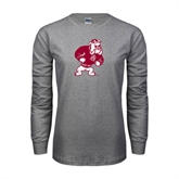 Grey Long Sleeve TShirt-Bulldog