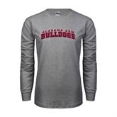 Grey Long Sleeve TShirt-Alabama A&M Bulldogs Arched