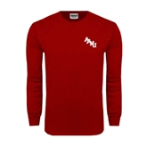 Cardinal Long Sleeve T Shirt-AAMU Stacked