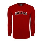 Cardinal Long Sleeve T Shirt-Alabama A&M Bulldogs Arched