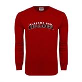 Cardinal Long Sleeve T Shirt-Alabama A&M Bulldogs Arched