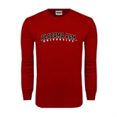 Cardinal Long Sleeve T Shirt-Alabama A&M University Arched