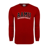 Cardinal Long Sleeve T Shirt-Basketball