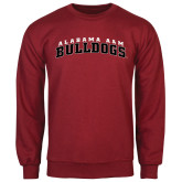 Cardinal Fleece Crew-Alabama A&M Bulldogs Arched