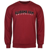 Cardinal Fleece Crew-Alabama A&M University Arched