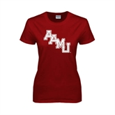Ladies Cardinal T Shirt-AAMU Stacked