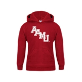 Youth Cardinal Fleece Hoodie-AAMU Stacked