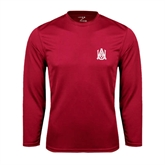 Syntrel Performance Cardinal Longsleeve Shirt-Official Logo