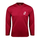 Performance Cardinal Longsleeve Shirt-Bulldog