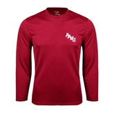 Syntrel Performance Cardinal Longsleeve Shirt-AAMU Stacked