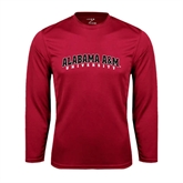 Syntrel Performance Cardinal Longsleeve Shirt-Alabama A&M University Arched