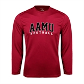 Performance Cardinal Longsleeve Shirt-Football