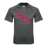 Under Armour Carbon Heather Tech Tee-AAMU Stacked