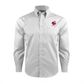 Red House White Long Sleeve Shirt-Bulldog