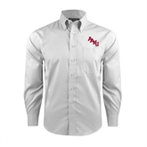 Red House White Long Sleeve Shirt-AAMU Stacked
