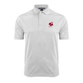 White Dry Mesh Polo-Bulldog