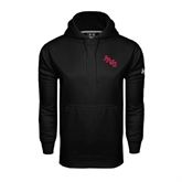 Under Armour Black Performance Sweats Team Hoodie-AAMU Stacked