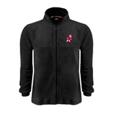Fleece Full Zip Black Jacket-Bulldog