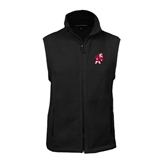 Fleece Full Zip Black Vest-Bulldog
