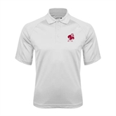 White Textured Saddle Shoulder Polo-Bulldog
