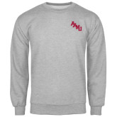 Grey Fleece Crew-AAMU Stacked