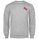 Grey Fleece Crew-AAMU Stacked