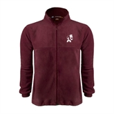 Fleece Full Zip Maroon Jacket-Bulldog