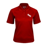 Ladies Cardinal Textured Saddle Shoulder Polo-AAMU Stacked