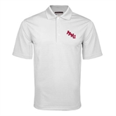 White Mini Stripe Polo-AAMU Stacked