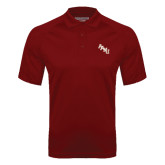 Cardinal Textured Saddle Shoulder Polo-AAMU Stacked