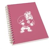 Clear 7 x 10 Spiral Journal Notebook-Bulldog