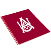 College Spiral Notebook w/Red Coil-Official Logo