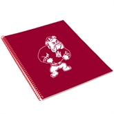 College Spiral Notebook w/Red Coil-Bulldog