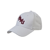 White Heavyweight Twill Pro Style Hat-AAMU Stacked