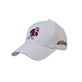 White Heavyweight Twill Pro Style Hat-Bulldog