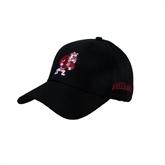 Black Heavyweight Twill Pro Style Hat-Bulldog