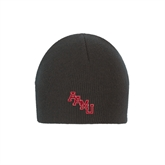 Black Knit Beanie-AAMU Stacked